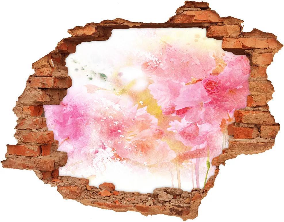 Fototapet un zid spart cu priveliște Flori
