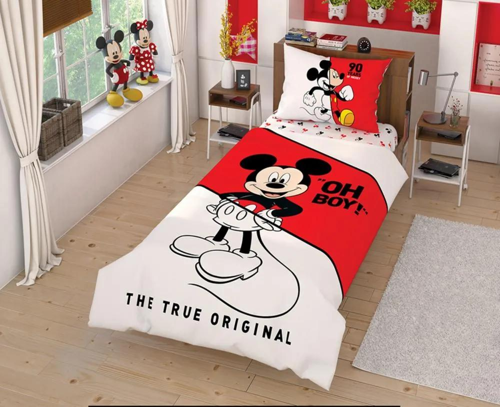 Lenjerie de pat Tac Disney Mickey Mouse Canlandir