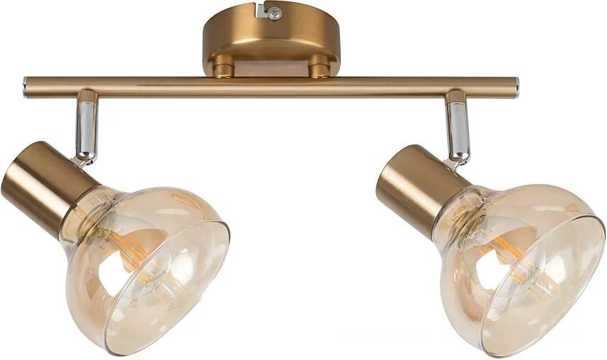 Rábalux Holly 5547 Plafoniere auriu antic ambra E14 2X MAX 40W