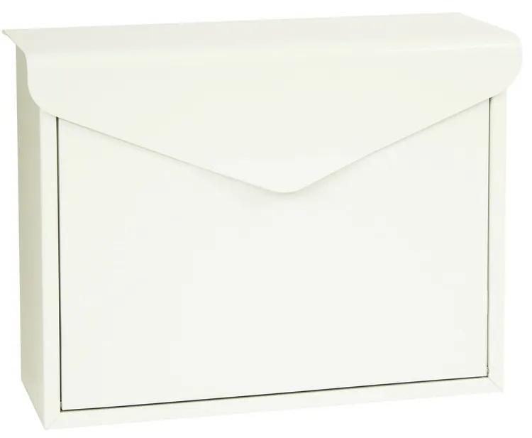 Cutie poştală din oţel Monza, alb