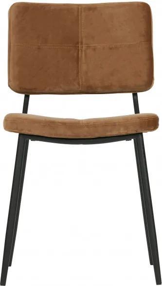 Set 2 scaune tapitate caramel