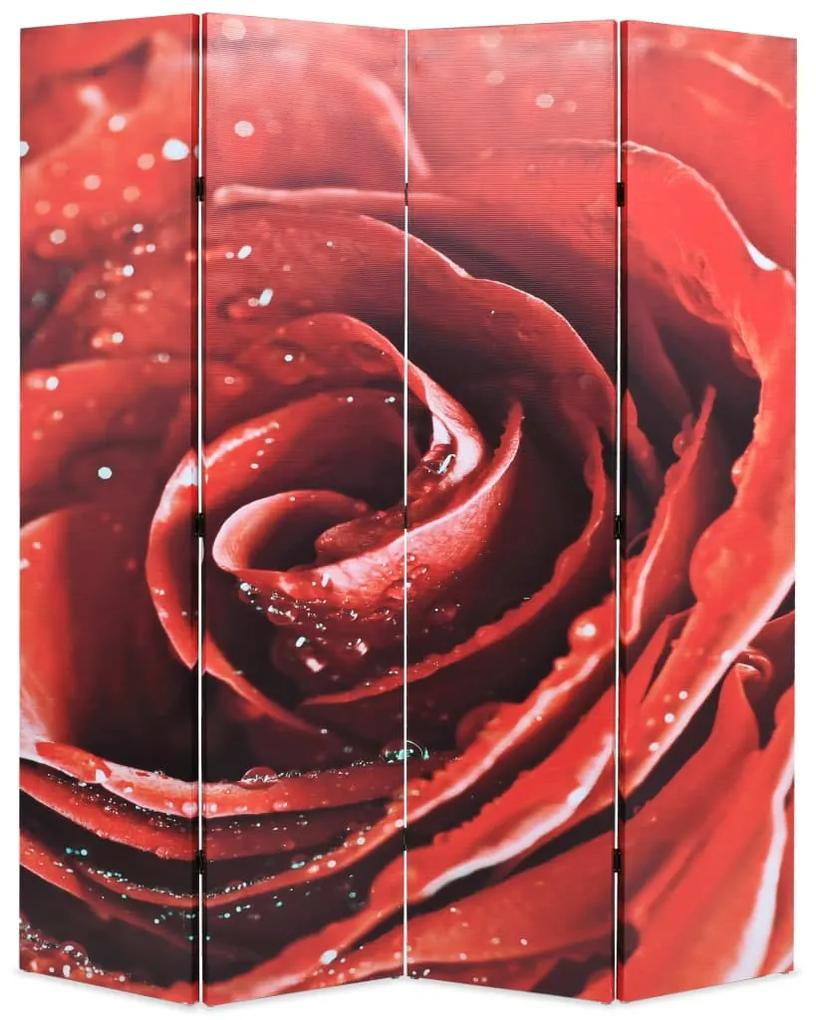 245894 vidaXL Paravan de cameră pliabil, 160 x 170 cm, trandafir roșu