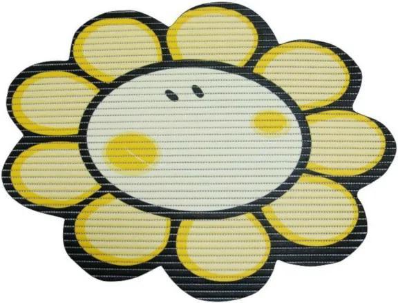 Covoras baie din spuma poliuretanica, Smiley Flower Galben