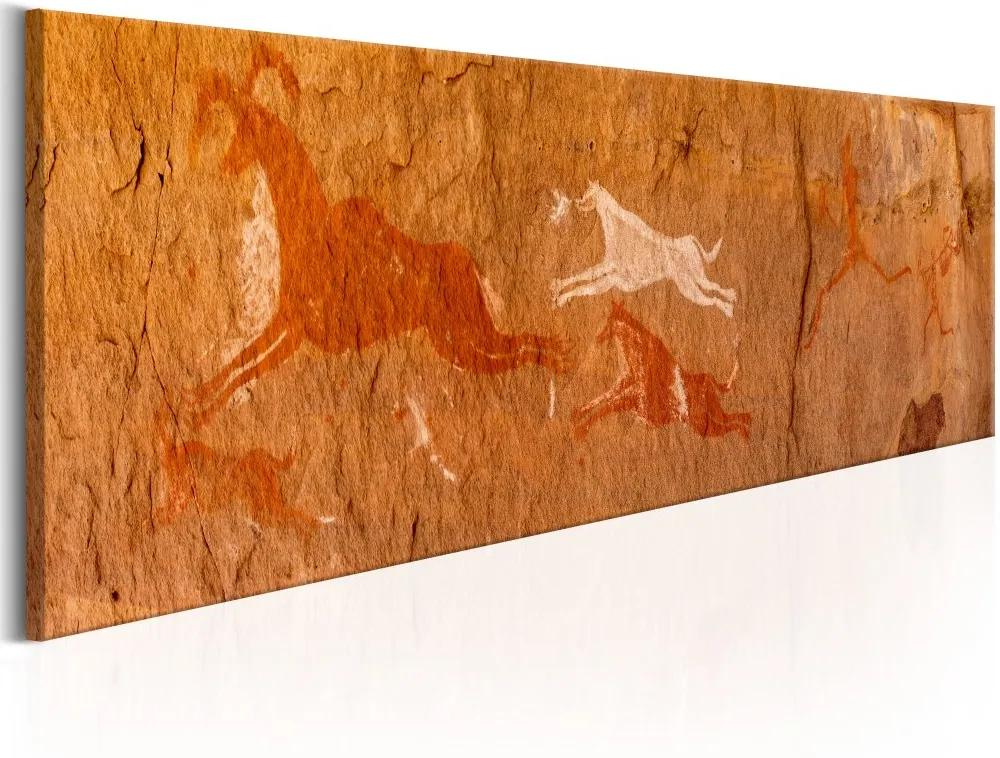 Tablou Bimago - Cave Paintings 120x40 cm