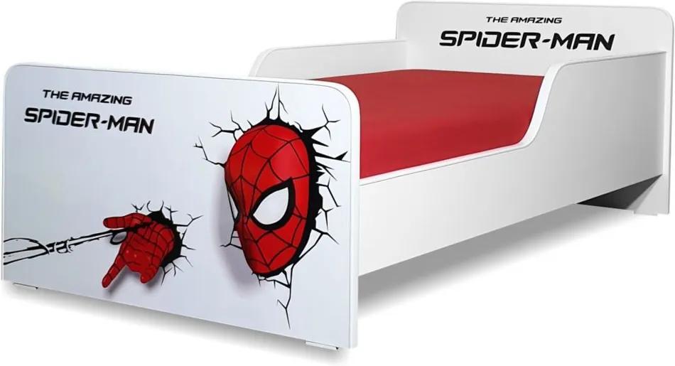 Pat copii  Spiderman 2-12 ani cu saltea cadou