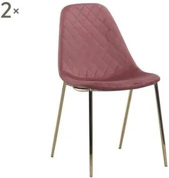 Set de 2 scaune Terry rosa