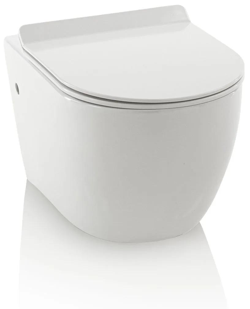 Vas de toaleta FLOAT, Ceramica, Alb,  55.5x36.5x33 cm