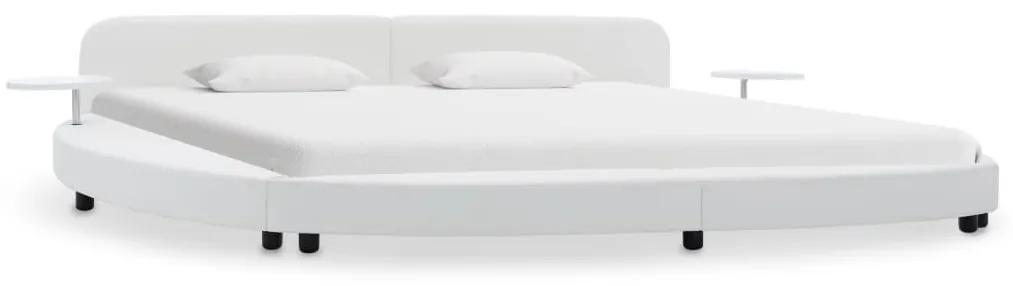 284719 vidaXL Cadru de pat, alb, 180 x 200 cm, piele artificială