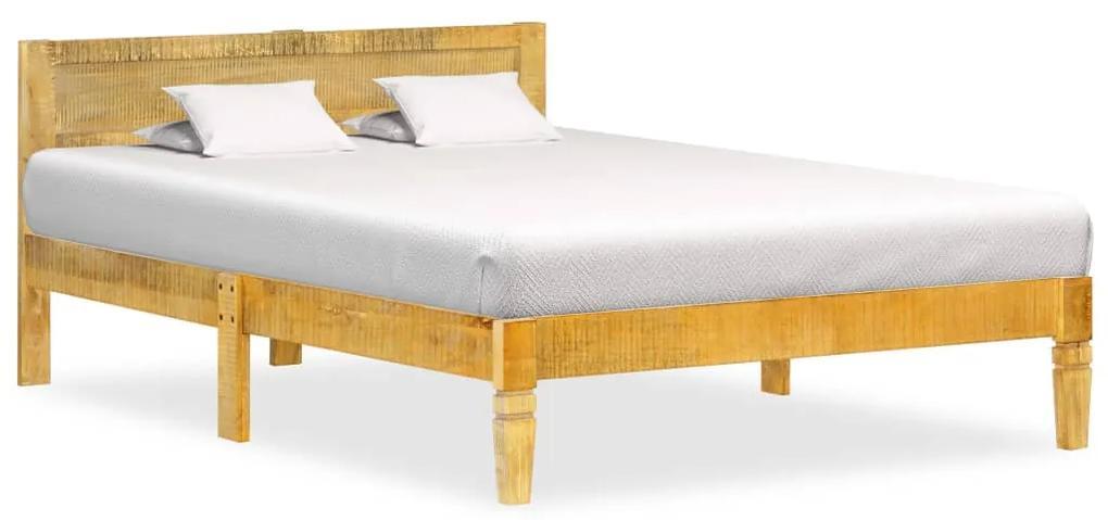 288430 vidaXL Cadru de pat, 120 cm, lemn masiv de mango