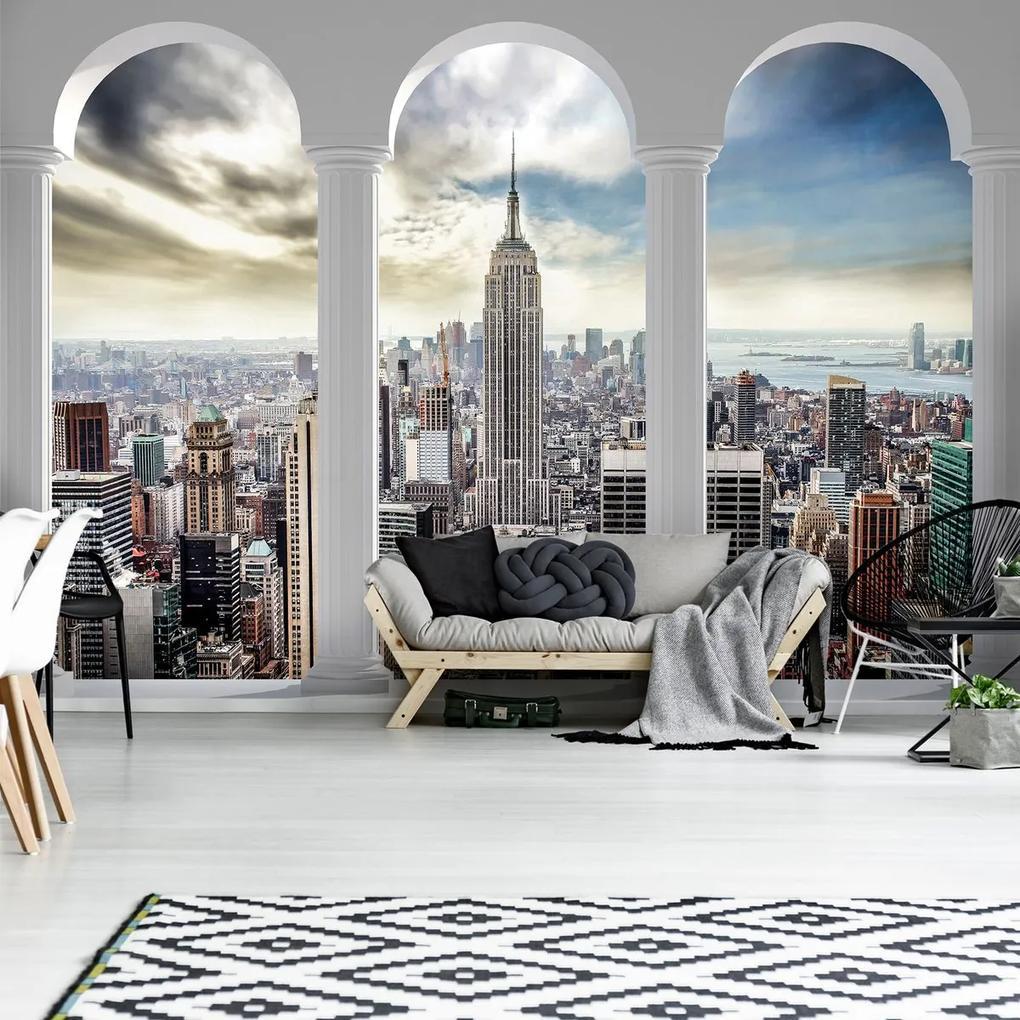 Fototapet - Privie spre New York Pillars (254x184 cm), în 8 de alte dimensiuni noi