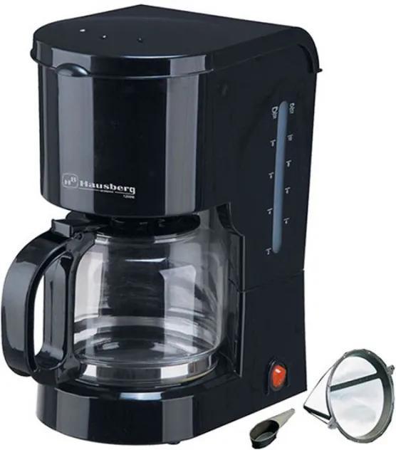 Filtru de Cafea Electric Hausberg cu filtru detaşabil si plită încălzita,12 ceşti, 1.2 Litri, 1200 W