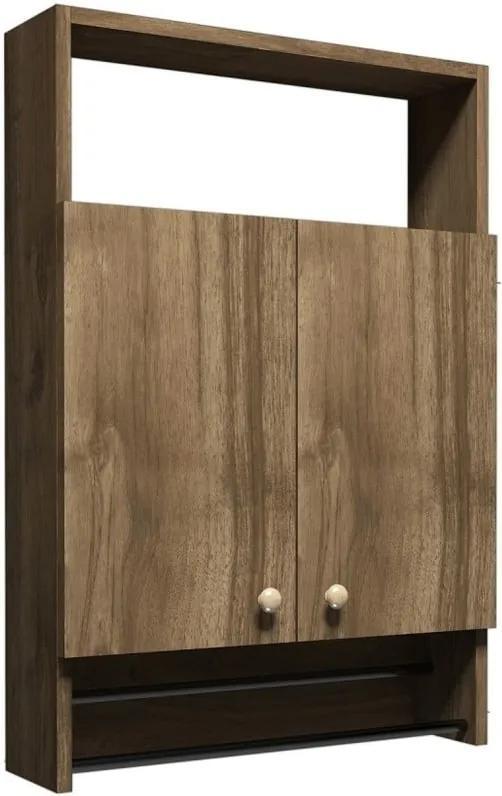 Dulap pentru baie în decor de lemn de nuc Muzzo Ela