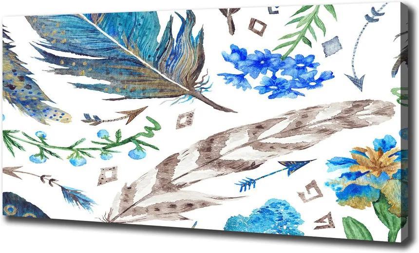 Print pe canvas Pene și flori