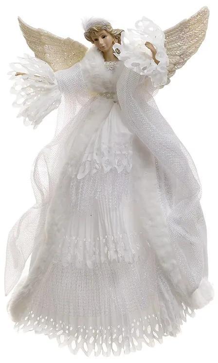 Varf de brad Angel White 40 cm