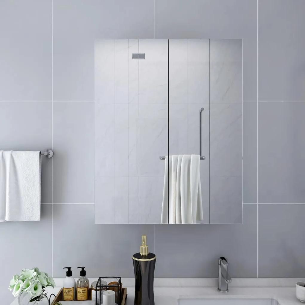 323607 vidaXL Dulap de baie cu oglindă, alb, 60 x 15 x 75 cm, MDF