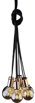 Lustra Cable Black/Copper E27 max. 7x60W, negru/cupru