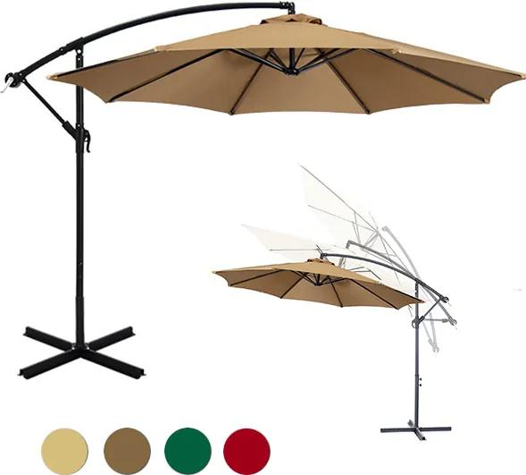 Umbrela de soare suspendata 2,7 m - diferite culori