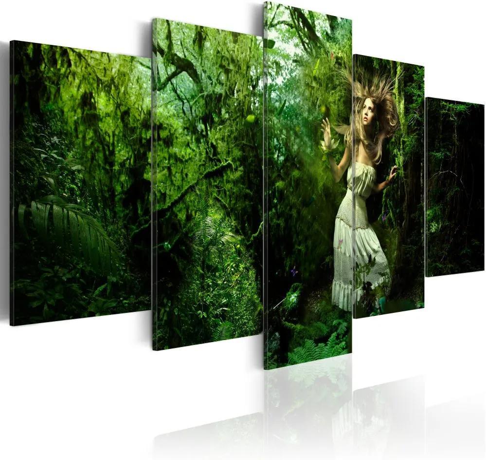 Tablou Bimago - Lost In Greenery 100x50 cm