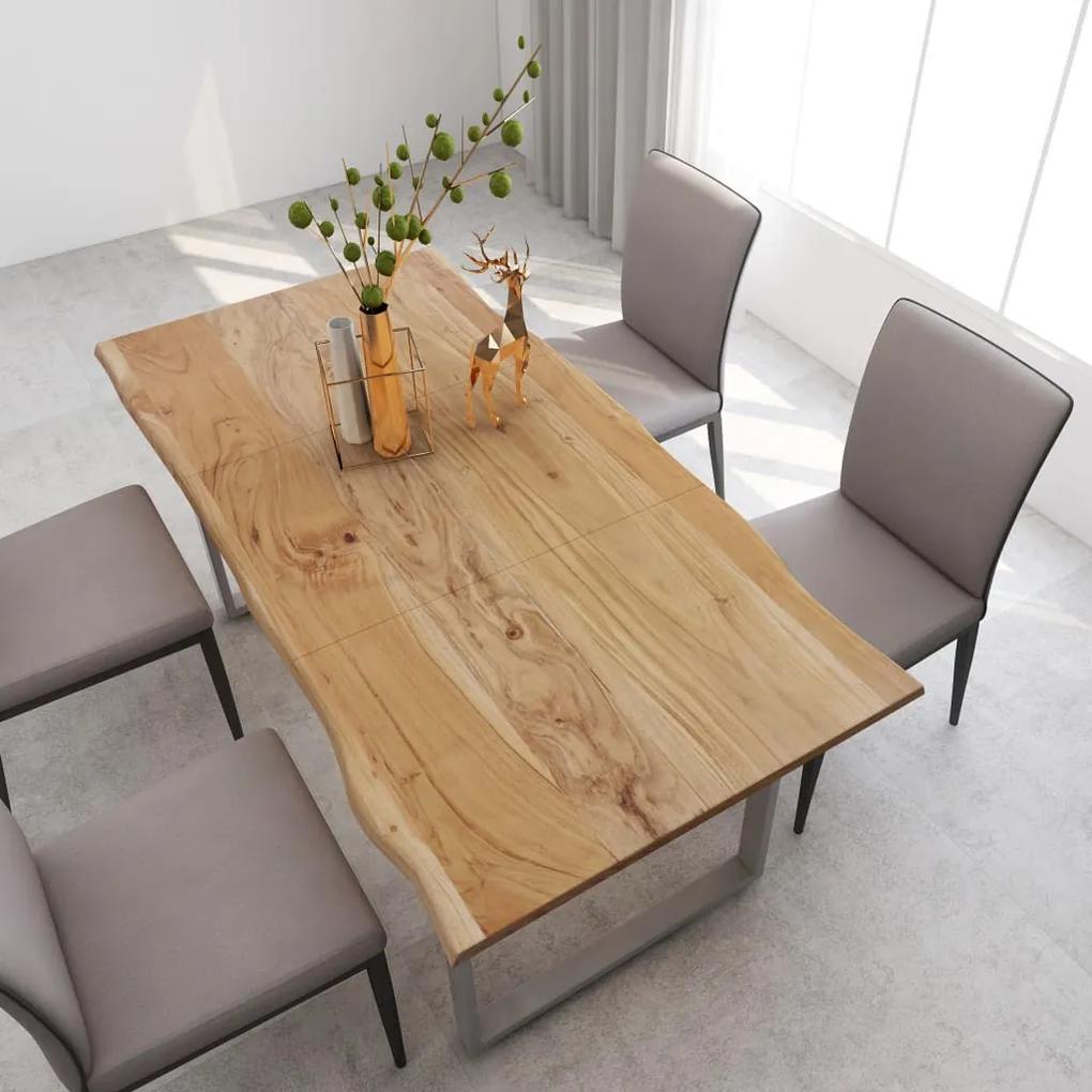 286476 vidaXL Masă de bucătărie, 180 x 90 x 76 cm, lemn masiv de acacia