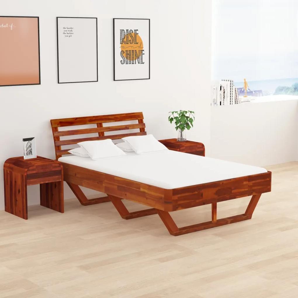 288311 vidaXL Cadru de pat, 120 x 200 cm, lemn masiv de acacia
