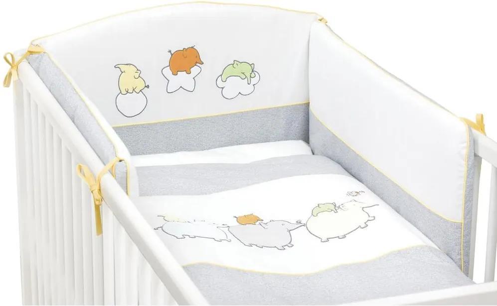Lenjerie de pat Ceba Baby cu 3 piese Elefantei