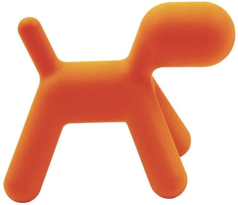 Scaun în formă de câine pentru copii Magis Puppy, înălțime 34,5 cm, portocaliu