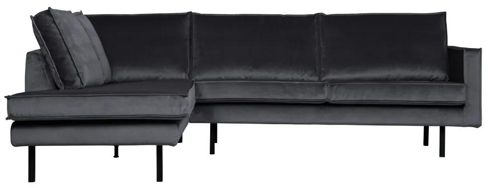 Canapea coltar stanga gri inchis Rodeo Corner Dark Grey