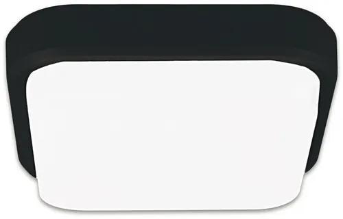 Plafoniera cu LED integrat Mango 18W 1620 lumeni, 21x21 cm, negru, pentru medii umede IP54