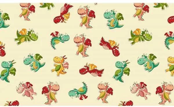 Lenjerie patut Copii Hubners Soft Dragon 4 piese
