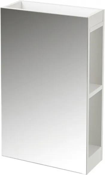Dulapior cu oglinda alb din MDF Ted Unimasa