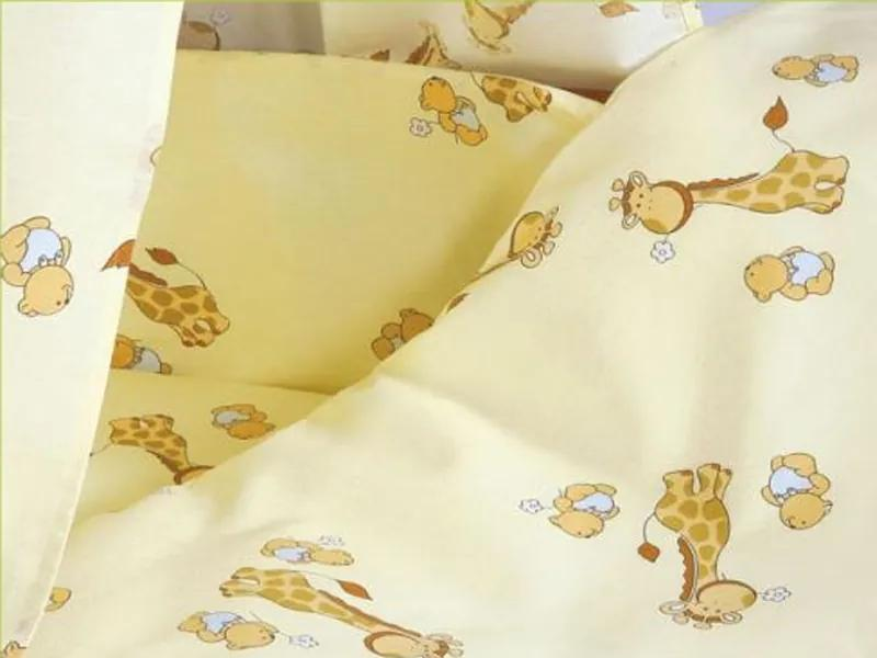 Lenjerie  Mini Giraffe crem 4 piese 140x70