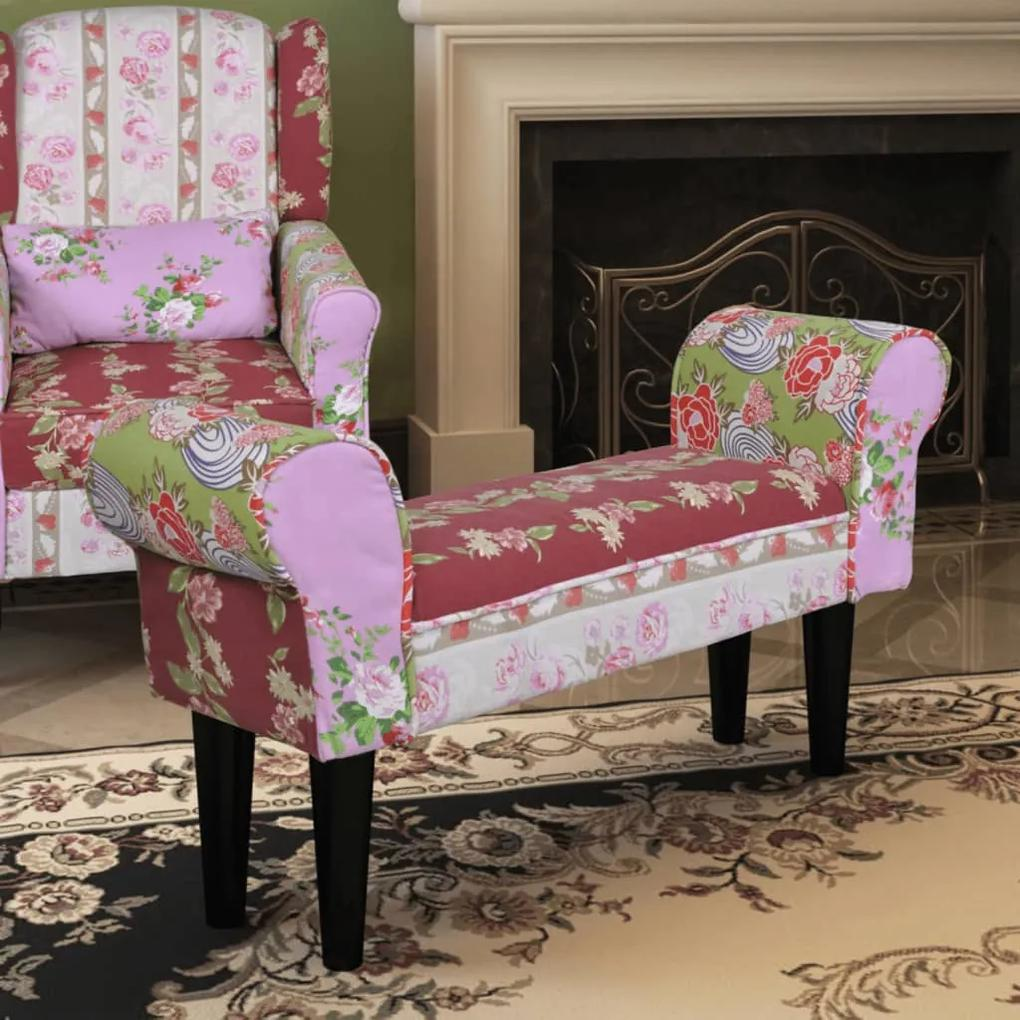 240489 vidaXL Bancă patchwork stil floral