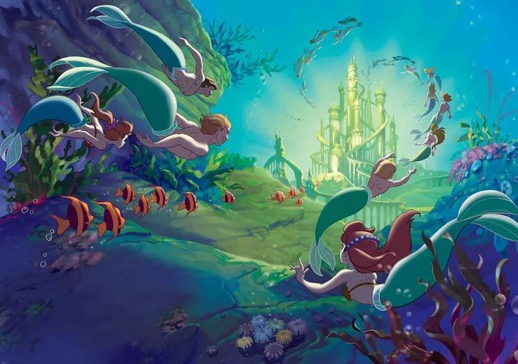 Disney Little Mermaid Fototapet, (368 x 254 cm)