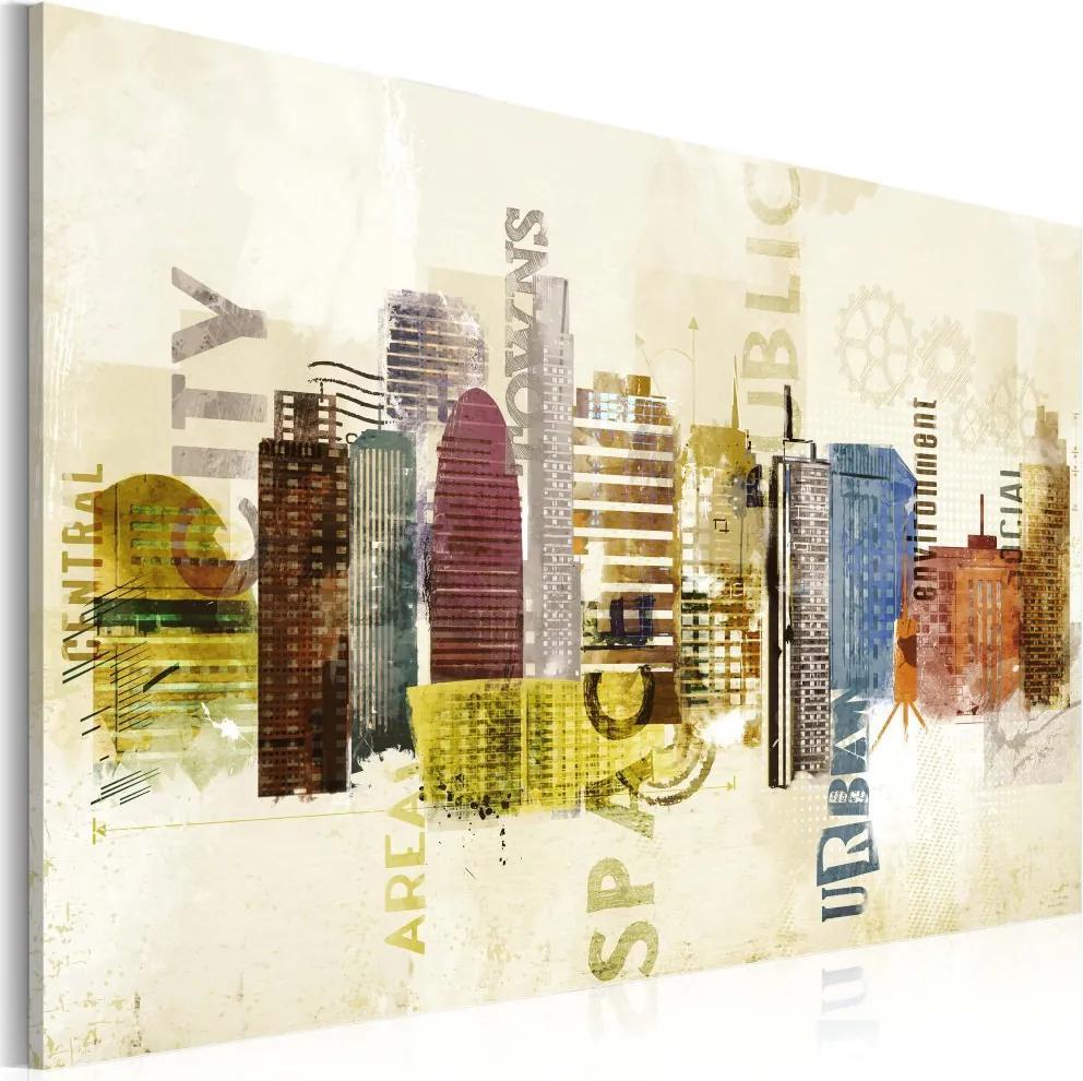 Tablou - Urban design 60x40 cm