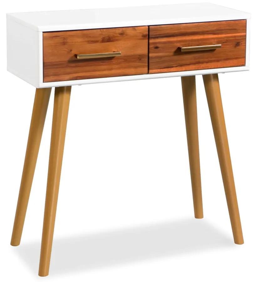 245738 vidaXL Masă consolă din lemn masiv de acacia, 70 x 30 x 75 cm