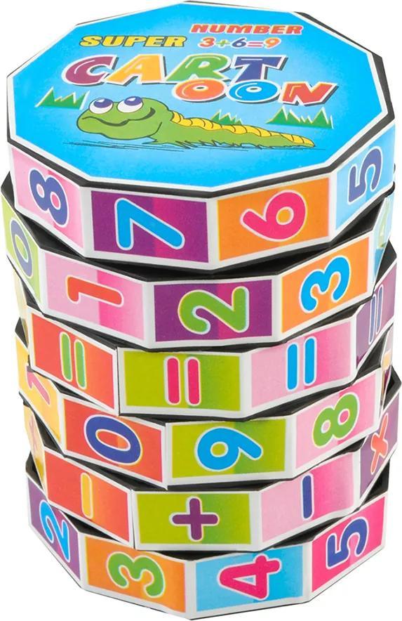 Puzzle matematic Montessori educativ pentru copii, dimensiuni 7.2x5.5 cm