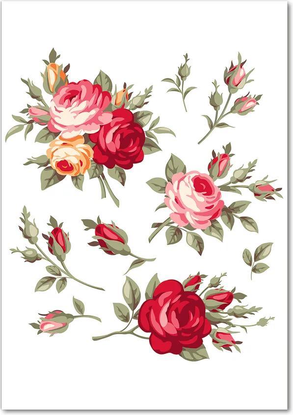 Tablou sticlă acrilică Trandafir salbatic
