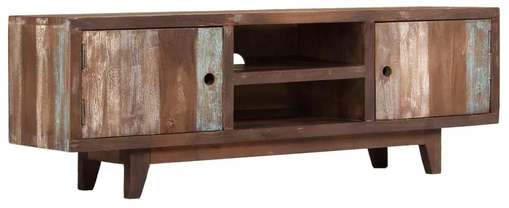 244960 vidaXL Comodă TV din lemn masiv de acacia, vintage, 118 x 30 x 40 cm