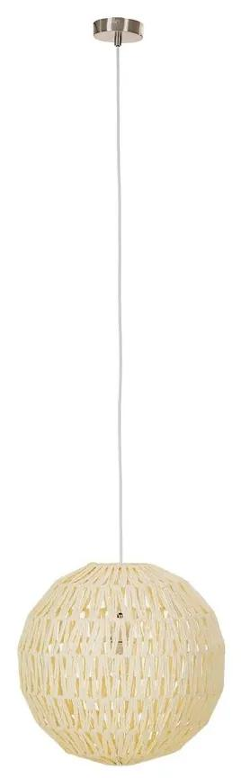 Lustra tip pendul Heckla Ball tesatura/metal, bej, 1 bec, diametru 40 cm, 220 V