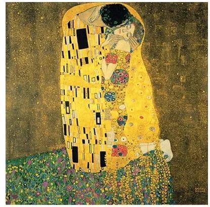 Reproducere tablou Gustav Klimt - The Kiss, 90 x 90 cm