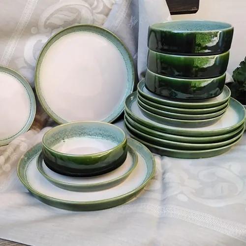 Set 18 farfurii Nature din ceramica