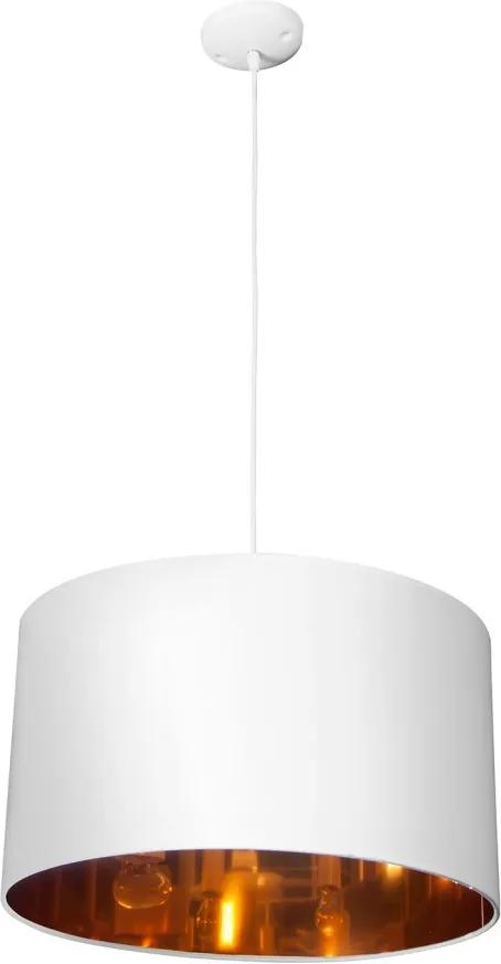 Pendul Solaris tesatura/plastic, alb, 3 becuri, diametru 50 cm