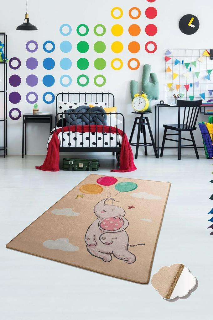 Covor pentru copii Baloons Somon - 140 x 190 cm