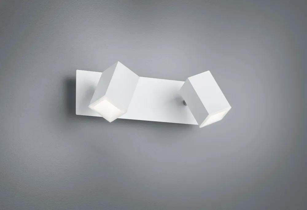 Trio 827890231 Aplice perete LAGOS alb mat metal incl. 2 x SMD, 6W, 3000K, 550Lm 550lm IP20 A+