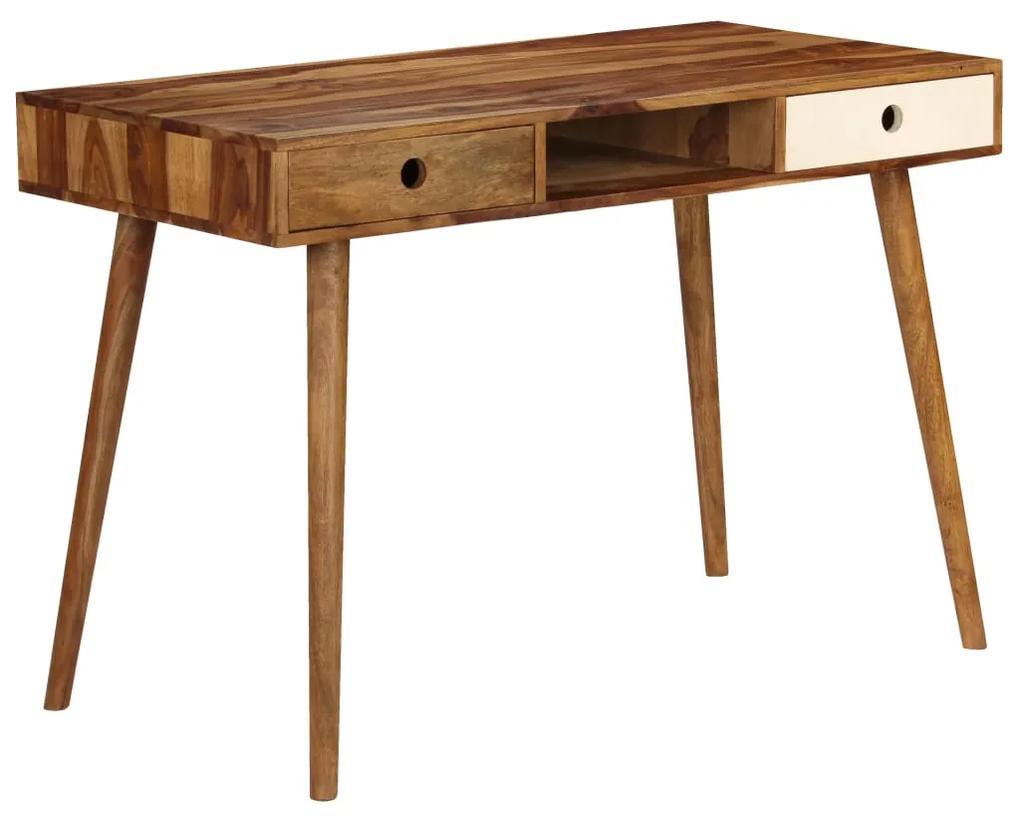246225 vidaXL Birou de scris, 110 x 55 x 76 cm, lemn masiv de palisandru