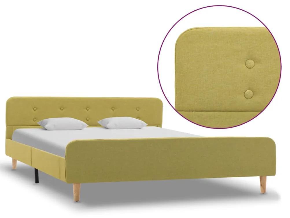 284915 vidaXL Cadru de pat, verde, 140 x 200 cm, material textil