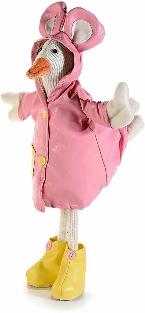 Figurina Ratusca roz piele ecologica 18 cm x 43 h