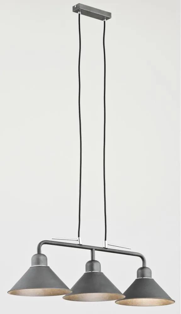 Argon 1302 - Lampa suspendata DZERBA 3xE27/60W/230V