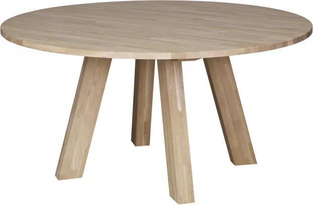 Masa rotunda din lemn de stejar Rhonda 75x150x150 cm maro deschis