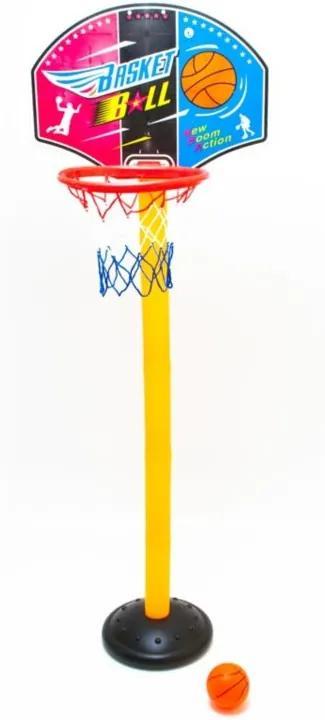 Set Joc Cos de Baschet pentru Copii cu Minge si Pompa, Inaltime 140cm, Diametru Cos 24cm